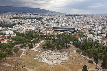 Theatre of Dionysus Eleuthereus, Acropolis, UNESCO World Heritage Site, Athens, Greece, Europe