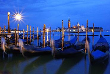 View towards the Island of San Giorgio Maggiore, Venice, UNESCO World Heritage Site, Veneto, Italy, Europe