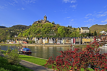 Cochem Imperial Castle, the Reichsburg, on Moselle River, Rhineland-Palatinate, Germany, Europe