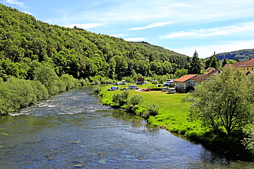 Our River near Dillingen, Grand Duchy of Luxembourg, Europe