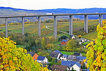 Highway Bridge of Highway A1 near Fell, Moselle Valley, Rhineland-Palatinate, Germany, Europe
