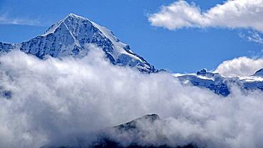 Jungfraujoch and Monch, Grindelwald, Bernese Oberland, Canton of Bern, Switzerland, Europe