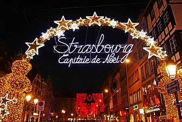 Decoration at Christmas time, Strasbourg, Alsace, France, Europe
