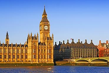 Big Ben, Houses of Parliament, UNESCO World Heritage  Site, London, England, United Kingdom, Europe