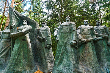 Monument to Soviet underground partisans, now banished since 1991 to a park near Vilnius, Grutas Park, Lithuania, Europe