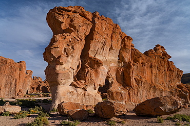 Surreal rock formations caused by the elements, Vallee de Rocas, Bolivian Andes, Bolivia, South America