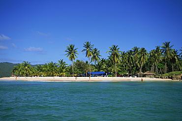 Tropical coastline of Cayo Levantado, Dominican Republic, West Indies, Caribbean, Central America