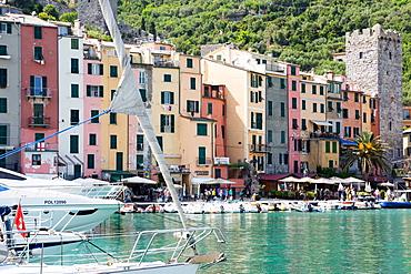 Harbour view, Porto Venere, Cinque Terre, UNESCO World Heritage Site, Liguria, Italy, Europe