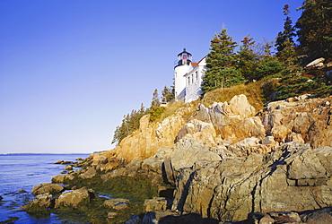 Bass harbour lighthouse, Acadia national park, Maine, New England, USA, North America
