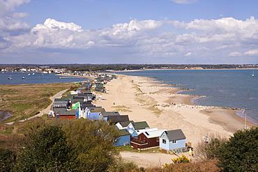 Mudeford Spit, a sandbank, Christchurch Harbour, Dorset, England, United Kingdom, Europe