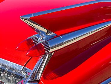 Tail fin and rear lights of 1959 Cadillac Eldorado, Melbourne, Victoria, Australia, Pacific