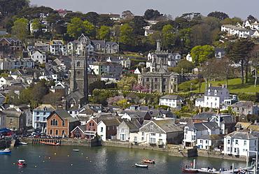 View from Penleath Point, Fowey, Cornwall, England, United Kingdom, Europe