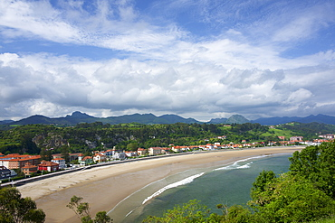 The town and harbour at Ribadesella, Asturias, Spain, Europe