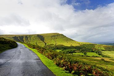 Road through the Black Mountains, Powys, Wales, United Kingdom, Europe