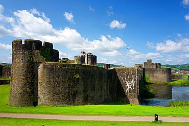 Caerphilly Castle, Glamorgan, Wales UK