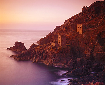 Botallack Tin Mine on the coast, Cornwall, England, UK