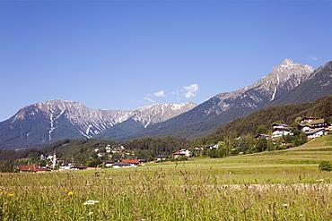 Alps and Gurgl valley in summer, Tarrenz, Tyrol, Austria, Europe