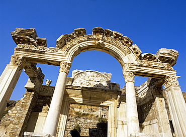 Hadrian's Temple, dating from around 150AD, Ephesus, Anatolia, Turkey, Asia Minor, Eurasia