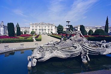 Royal Palace of Queluz, near Lisbon, Portugal, Europe
