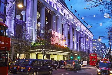 Selfridges at Christmas, Oxford Street, London, England, United Kingdom, Europe