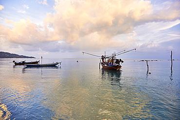 Fishing boats, Koh Samui, Thailand, Southeast Asia, Asia