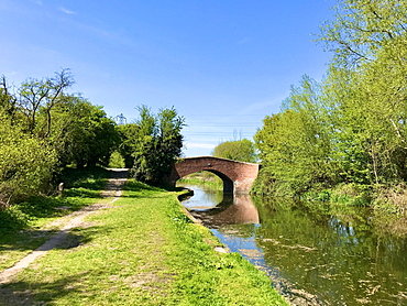 Trent and Mersey Canal in Stenson, Derby, Derbyshire, England, United Kingdom, Europe - 64-1400