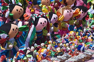 Colourful dolls for sale in Guanajuato, Guanajuato State, Mexico, North America