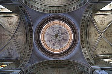 Dome inside Iglesia San Pedro, the main church at Mineral de Pozos (Pozos), a UNESCO World Heritage Site, Guanajuato State, Mexico, North America