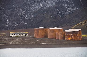 Remains of old Whaling Station, Deception Island, South Shetland Islands, Antarctica. Polar Regions