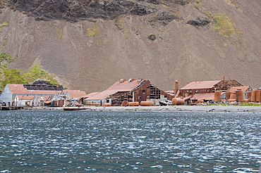 Old whaling station at Stromness Bay, South Georgia, South Atlantic