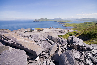 The slate quarry, Valentia Island, Ring of Kerry, County Kerry, Munster, Republic of Ireland, Europe