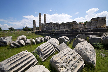 The Temple of Leto at the Lycian site of Letoon, UNESCO World Heritage Site, Antalya Province, Anatolia, Turkey, Asia Minor, Eurasia