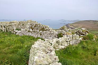 Stone walls, Samson, Isles of Scilly, United Kingdom, Europe