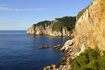 The rugged coast near Sa Tuna, Costa Brava, Catalonia, Spain, Mediterranean, Europe