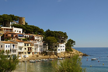 The beautiful cove of Sa Tuna, near Begur, Costa Brava, Catalonia, Spain, Mediterranean, Europe