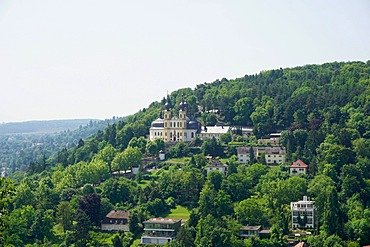 Kappele (Pilgrimage Church) viewed from Marienberg Fortress, Wurzburg, Bavaria, Germany, Europe