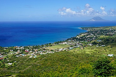View from Brimstone Hill Fortress, St. Kitts, St. Kitts and Nevis, Leeward Islands, West Indies, Caribbean, Central America