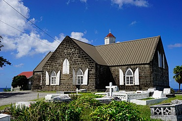 St. Thomas Anglican Church built in 1643, Nevis, St. Kitts and Nevis, Leeward Islands, West Indies, Caribbean, Central America