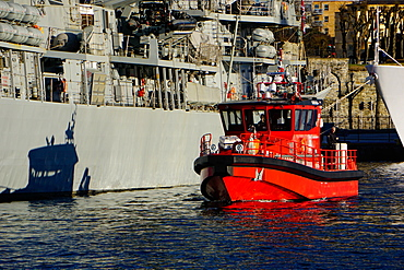 View on the harbour Bergen, Hordaland, Norway, Scandinavia, Europe