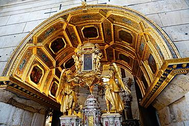 Church interior inside the Diocletian's Palace, Split, Croatia, Europe