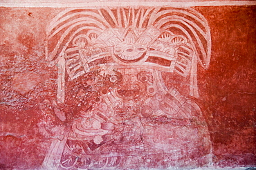 Murals, Teotihuacan, 150AD to 600AD and later used by the Aztecs, UNESCO World Heritage Site, north of Mexico City, Mexico, North America