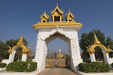 Pha That Luang, Vientiane, Laos, Indochina, Southeast Asia, Asia