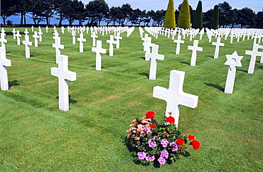 American cemetery (WWII), Omaha Beach, Colleville-sur-Mer, Calvados, Normandy, France