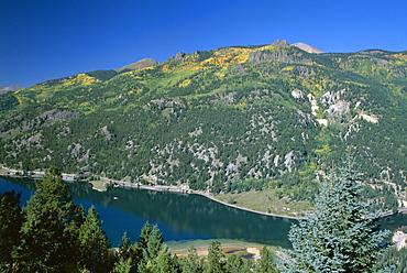 Lake San Cristobal, Silver Thread Scenic Byway, Colorado, United States of America (U.S.A.), North America