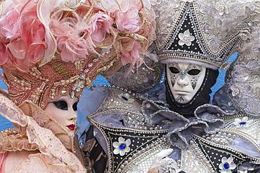 Masks and costumes, Carnival, Venice, Veneto, Italy, Europe