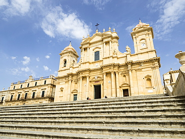 The Cathedral, UNESCO World Heritage Site, Noto, Sicily, Italy, Europe