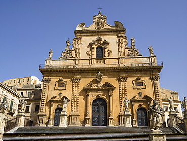 Cathedral of St Peter, UNESCO World Heritage Site, Modica, Sicily, Italy, Europe