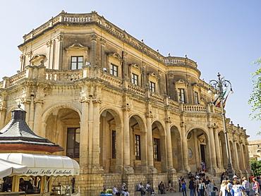 Palazzo Ducezio (Town Hall), UNESCO World Heritage Site, Noto, Sicily, Europe