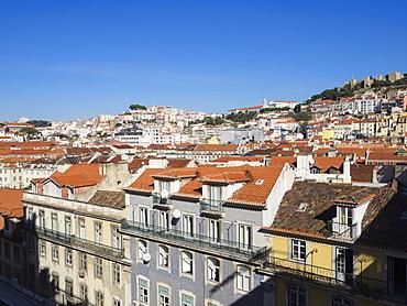 Sao Jorge Castle and city view, Lisbon, Portugal, Europe