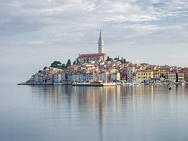 Early morning, Old Town reflections, Rovinj, Istria, Croatia, Europe